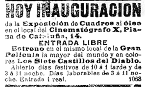 barcelone 1901 cinematografo x