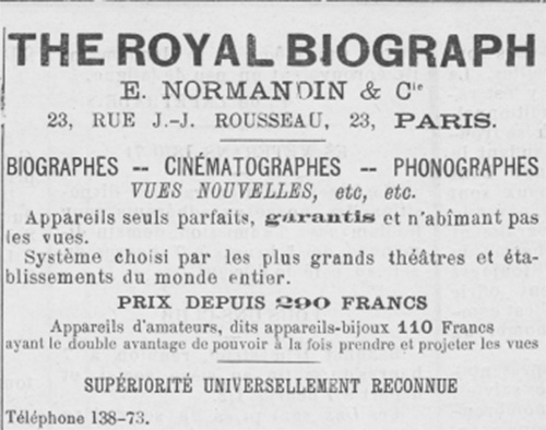 normandin royal biograph